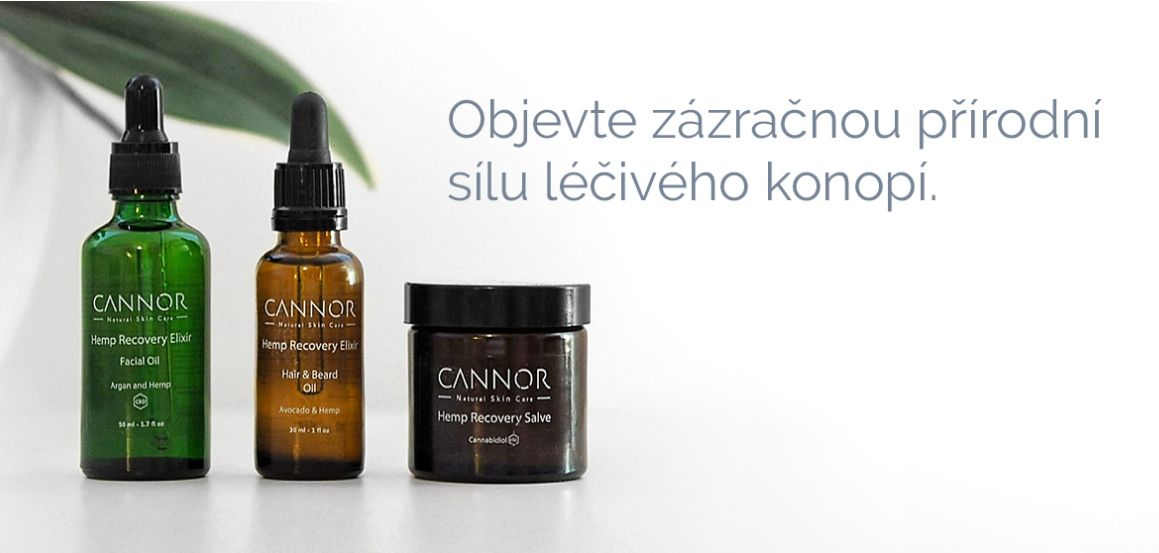 Léčivá přírodní kosmetika CANNOR - konopná kosmetika on-line