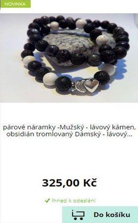 Náramky z minerálních kamenů - E-shop HAROKA - párové náramky
