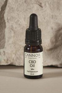 CANNOR kosmetika CBD kapky - konopný olej